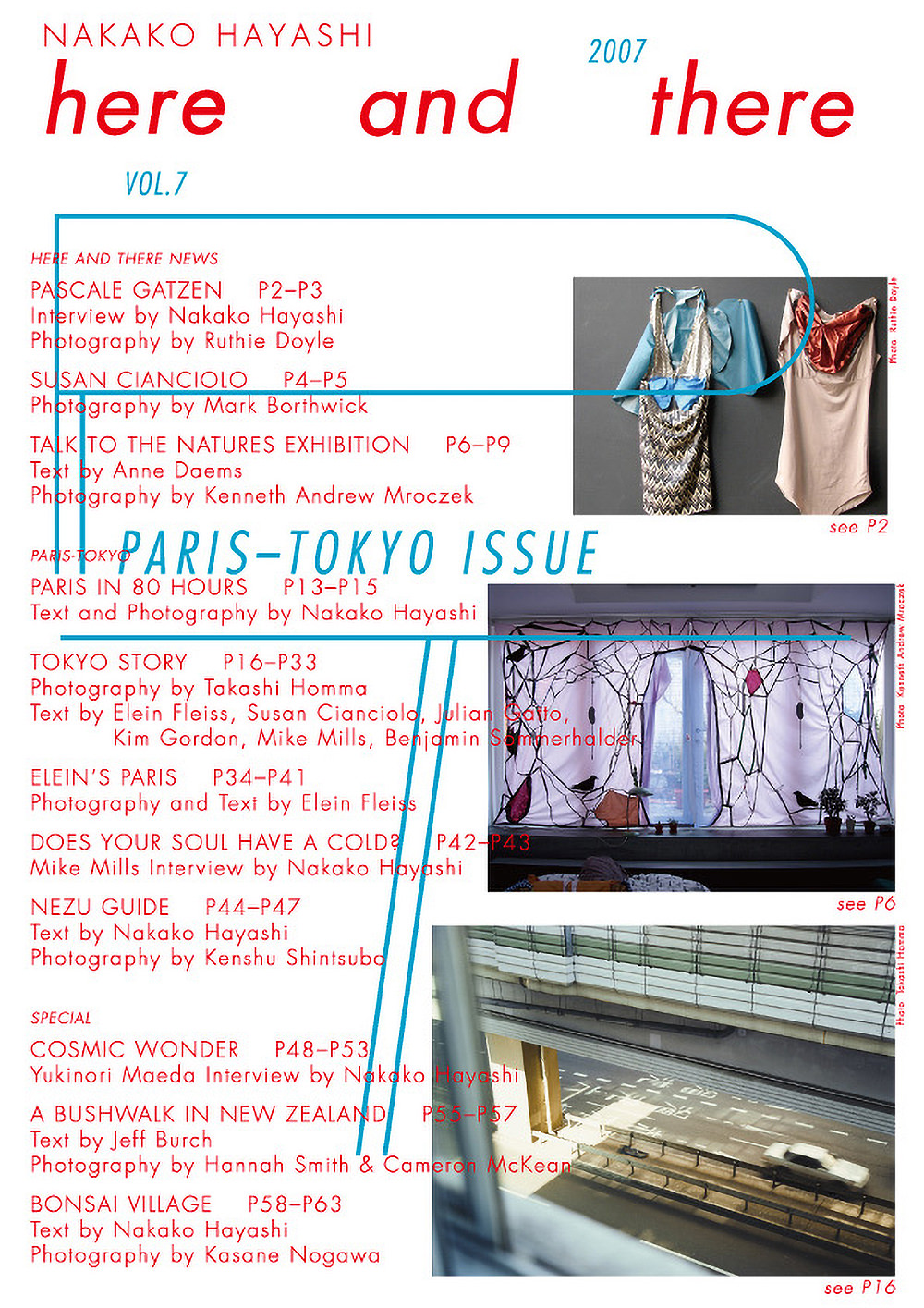 here and there vol.7 2007 PARIS-TOKYO ISSUE